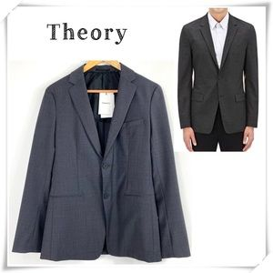 Theory Simons Suit Jacket Charcoal Gray New
